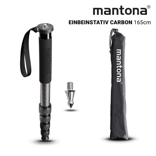 Mantona Pro ONE 165C Carbon Einbeinstativ 165cm