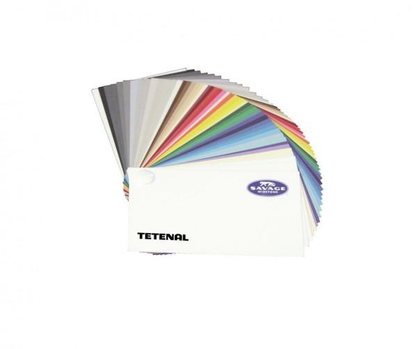 Musterfächer Savage farbsortiert, mit Aufkl. Hintergrundkarton enthält alle aktuellen Farben