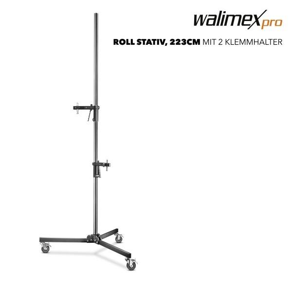 Walimex pro Rollstativ, 223cm, mit 2 Klemmhaltern