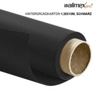 Walimex pro Hintergrundkarton 1,35x10m, schwarz