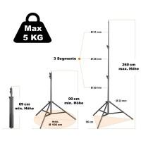 Walimex pro FT-8051 Lampenstativ 260cm mit Federdä
