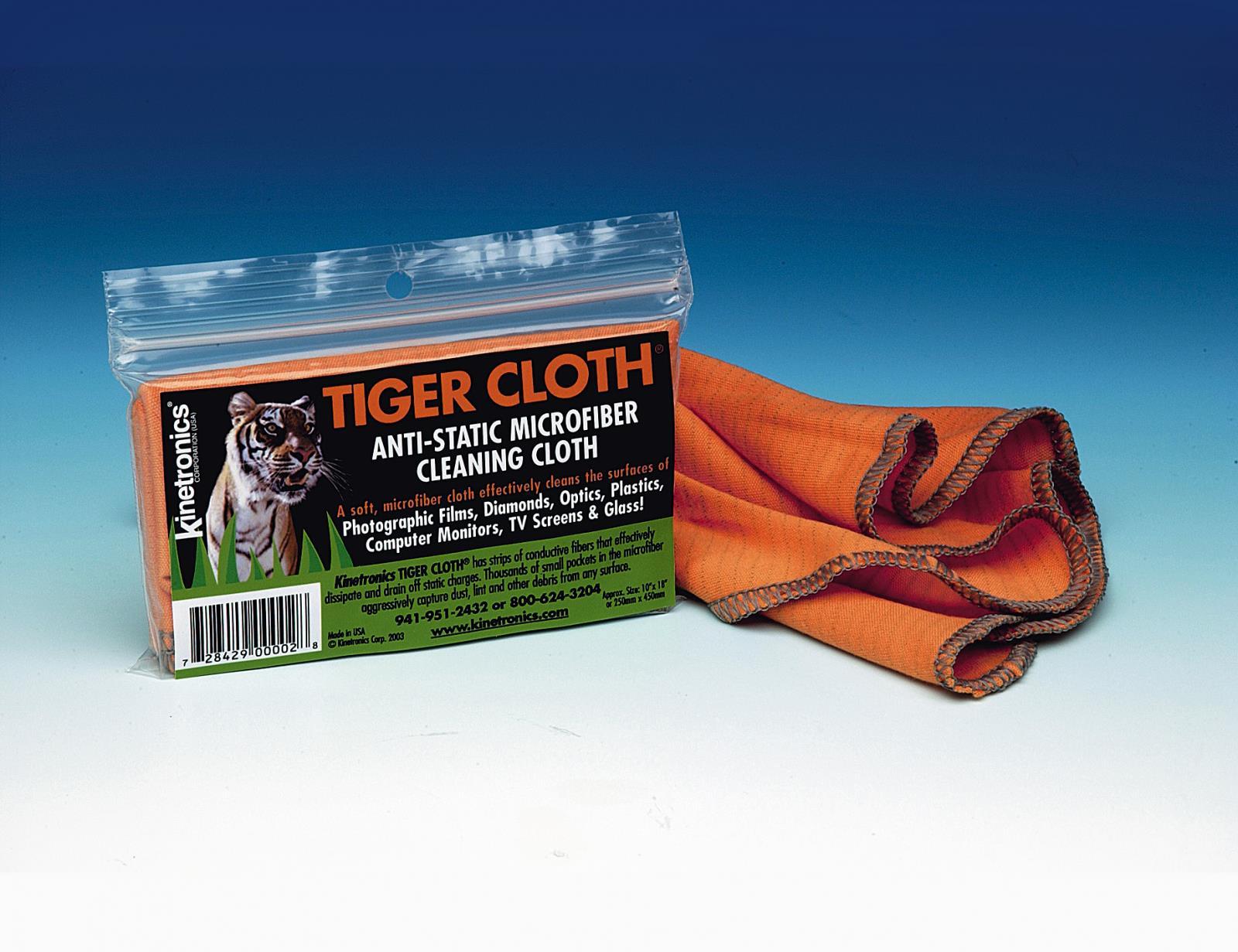 Kaiser Fototechnik Antistatik-Tuch Tiger Cloth ASC, 250 x 450 mm, für den Einsatz ohne Flüssigkeiten