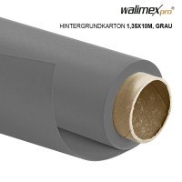 Walimex pro Hintergrundkarton 1,35x10m, grau