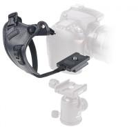 Kamera-Handschlaufe PRO connexion 2.1, mit Schnellwechselplatte (Arca-Swiss-kompatibel) sowie zusätzlichem Sicherungsgurt.