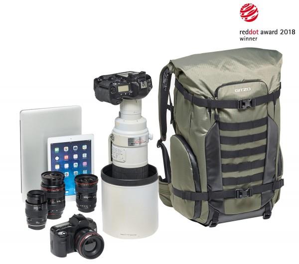 Gitzo Rucksack Adventury 45l für DSLR mit 600mm Objektiv