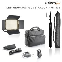 Walimex pro LED Niova 900 Plus Bi Color Set mit  WT-806 Stativ