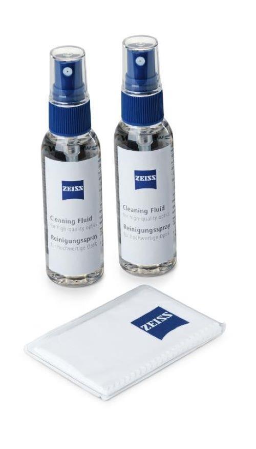 Zeiss Reinigungsspray 2x 60 ml + Mikrofaser 18x18 cm