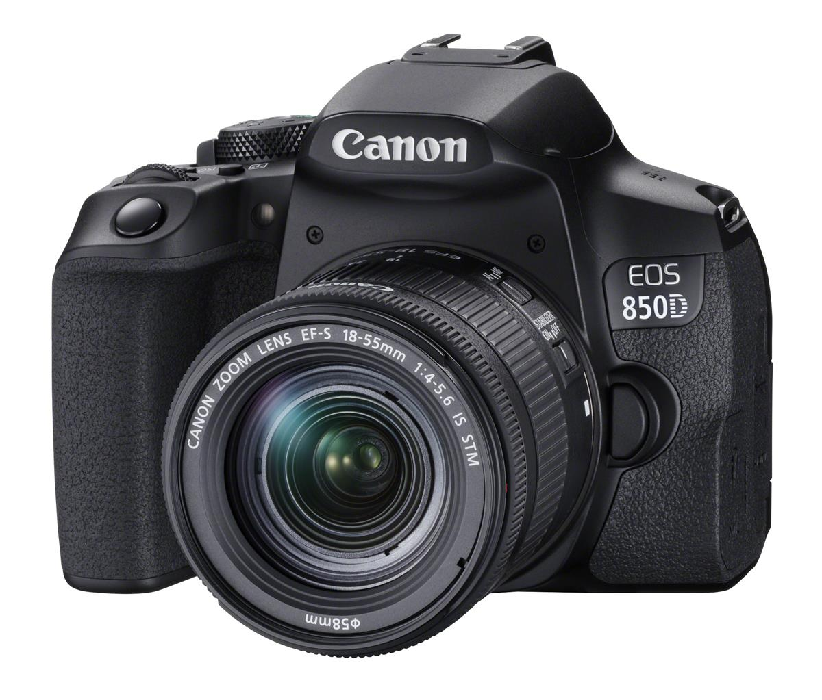 Canon EOS 850D Gehäuse + EF-S 18-55mm f4-5.6 IS STM