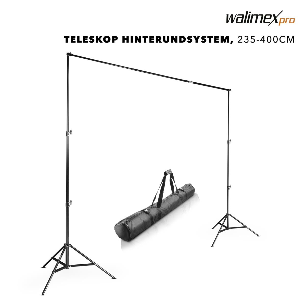 Walimex pro Teleskop Hintergrundsystem XL 225-400 cm