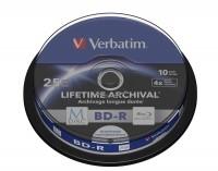 Verbatim M-DISC BD-R 25GB, 10er Cakebox, InkJet, White Fullsize Surface