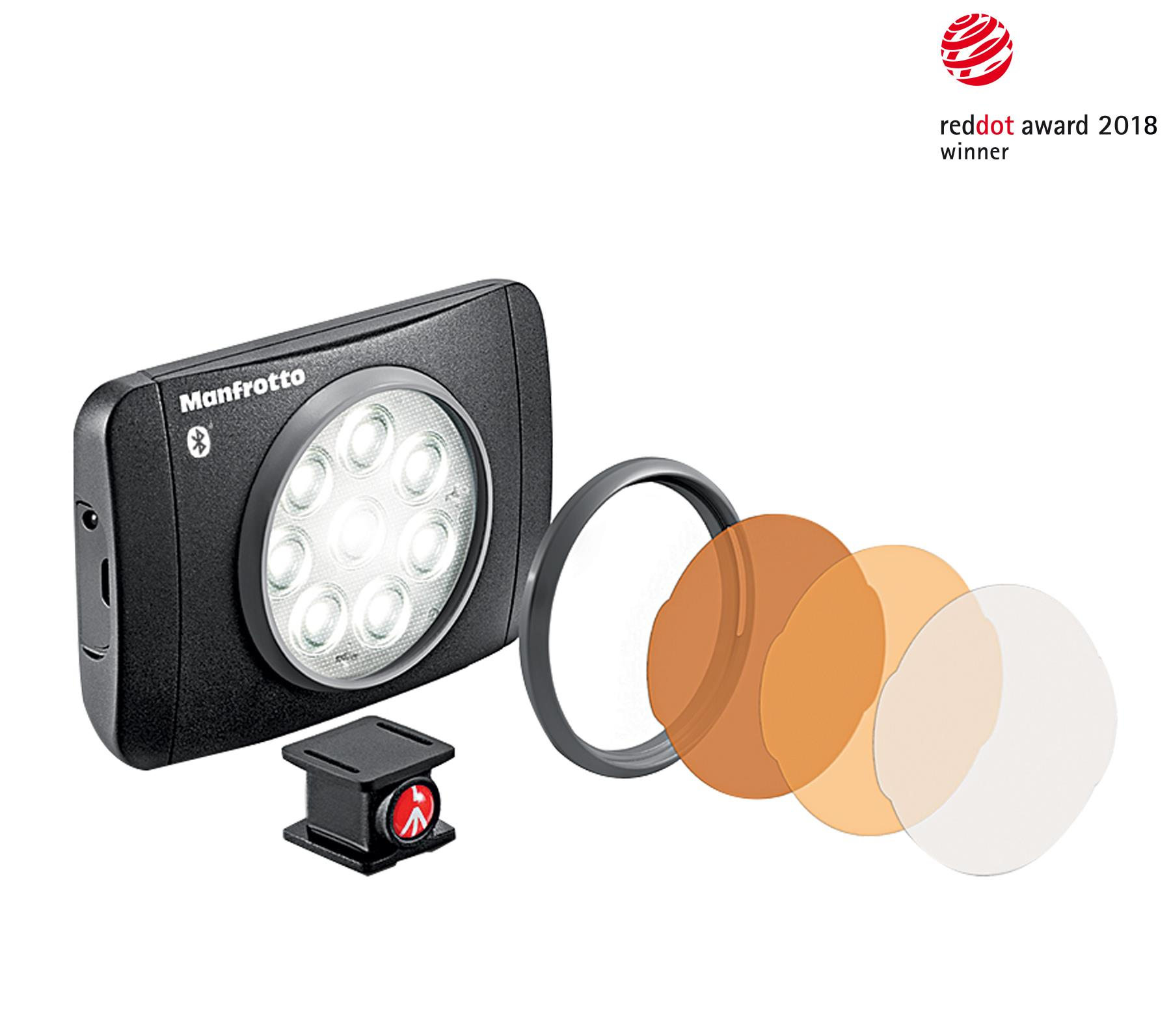 Manfrotto LED-Licht Lumimuse 8 mit Bluetooth Technologie