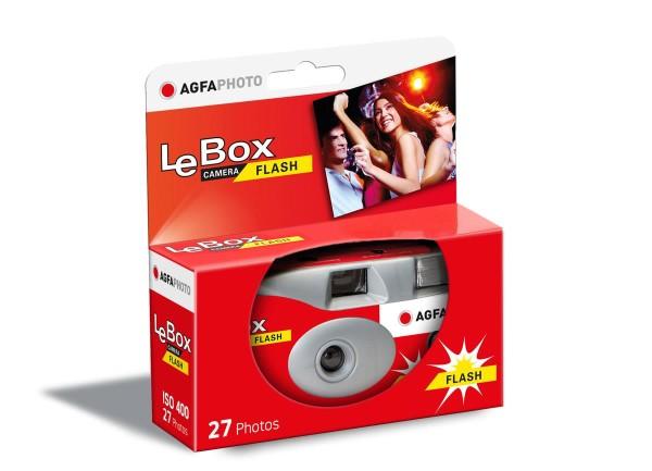 AgfaPhoto LeBox Flash 400 ASA 27 Aufnahmen, Einwegkamera